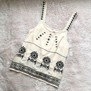 Francesca's Embroidered Tank   Size S